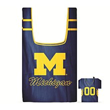 University of Michiganl Reusable Shopping Bag in Pouch