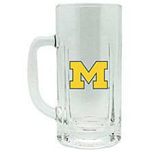 University of Michigan High Clear Glass Mug 20oz