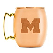 University of Michigan Wolverines Copper Moscow Mule Mug