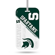 Michigan State University Luggage Tag Crystal View