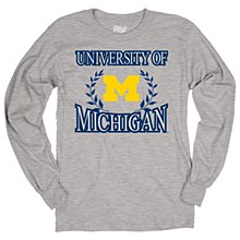 University of Michigan Men's Ringspun Long Sleeve Tee