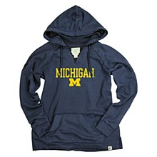University of Michigan French Terry V-Neck Hood Navy Size Small