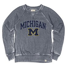 Mich Burnout Wash Fleece Crew
