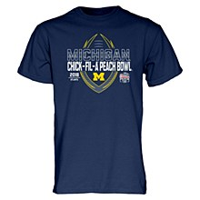 University of Michigan Peach Bowl 2018 Spiral Stripe T-Shirt