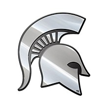 Michigan State University Emblem Metal Spartan