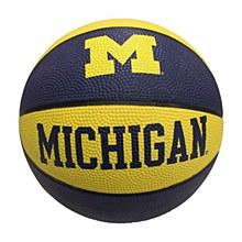 University of Michigan Basketball - Mini Rubber Basketball 7.5''