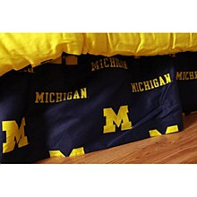 University of Michigan Wolverines Printed Dust Ruffle - Queen