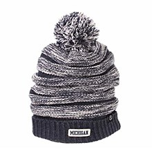 Michigan Wolverines Official NCAA Exposure Cuffed Pom Knit Beanie Sock Hat by Zephyr