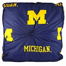 University of Michigan Wolverines Floor Pillow 24'' x 24'' x 4''