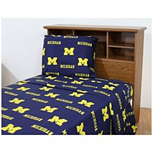 University of Michigan Wolverines Printed Sheet Set - Twin