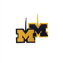 University of Michigan Logo Ornament 4.25''