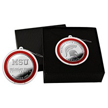 Michigan State University Ornament - Silver Coin