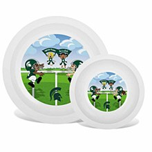 Michigan State University Plate & Bowl Set