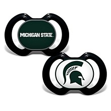 Michigan State University 2-Pack Orthodontic Pacifiers in Green