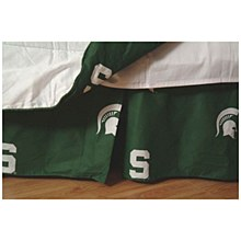 Michigan State Spartans Printed Dust Ruffle - Full
