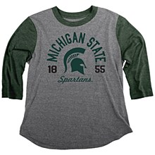 MSU Triblend Baseball T FOR LG