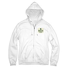 MSU W Sanded Fleece WHITE SM