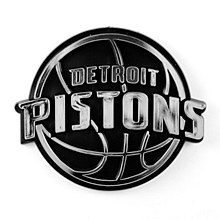 Detroit Pistons Emblem Chrome