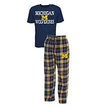 University of Michigan Wolverines Men's Pajama Set Dup Sleep Set