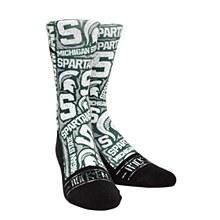 Michigan State University Socks - Spartans Logo Sketch