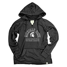 Michigan State University French Terry V-Neck Hood Black Size Small
