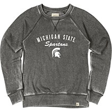Michigan State University Women's Burnout Wash Fleece Crew
