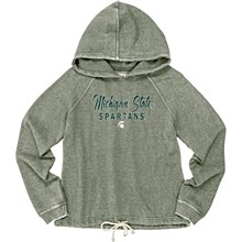 Michigan State University Women's Burnout Hood Sweatshirt