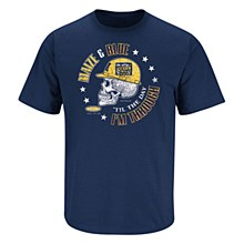 MICHIGAN WOLVERINES FANS. MAIZE & BLUE 'TIL THE DAY I'M THROUGH. T-SHIRT SMALL