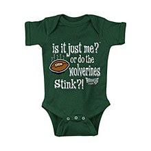 MICHIGAN STATE SPARTANS FANS. IS IT JUST ME (ANTI-MICHIGAN). ONESIE 12M