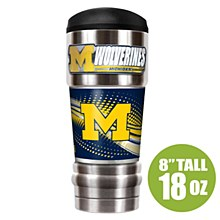 "University of Michigan Tumbler - ""The MVP"" 18 oz Vacuum Insulated Stainless Steel (w/ Emblem)"