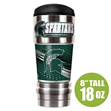 "Michigan State University Tumbler - ""The MVP"" 18 oz Vacuum Insulated Stainless Steel"