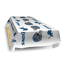 Detroit Lions NFL Plastic Vinyl Picnic Table Cover