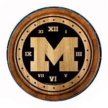 University of Michigan 24'' Wine Barrel Clock