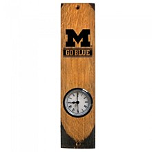 "University of Michigan ""Go Blue"" Barrel Stave Clock"