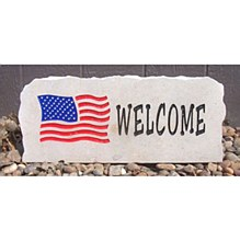 United States of America Flag Welcome Stone