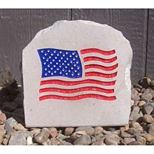 United States of America 7in Flag Stone