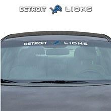 Detroit Lions Decal Windshield 35'' x 4''