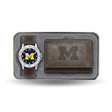 University of Michigan Watch & Wallet set Brown