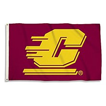 Central Michigan University Flag with Grommets 3' x 5'