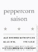 3 Stars Peppercorn Saison 6pk