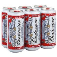Bud Cans 6pk