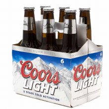 Coors Light 6pk Bottles