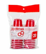 Goodtimes 2oz Mini Red Cups