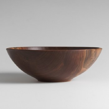 "13"" BLACK WALNUT CHAMPLAIN BOWL"