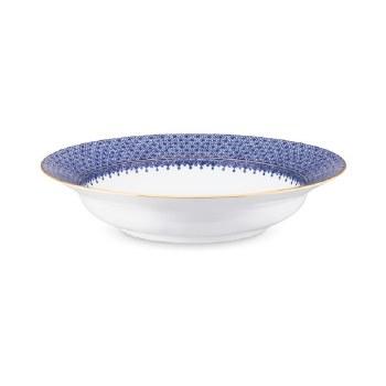 BLUE LACE RIM SOUP PLATE