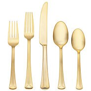 BAGUETTE MATTE GOLD 5PC PLACE SETTING