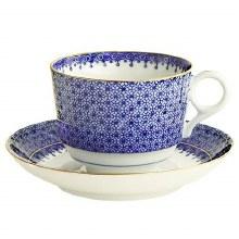 BLUE LACE TEA CUP & SAUCER