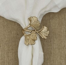 GINGKO LEAF GOLD NAPKIN RING