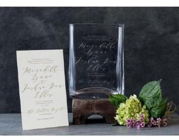 WEDDING INVITATION VASE