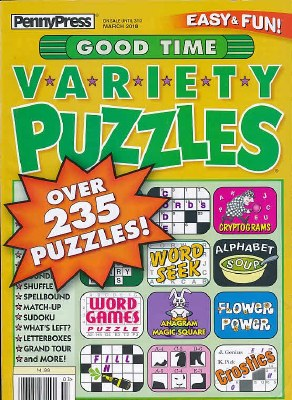 Good Time Variety Puzzles Subscription